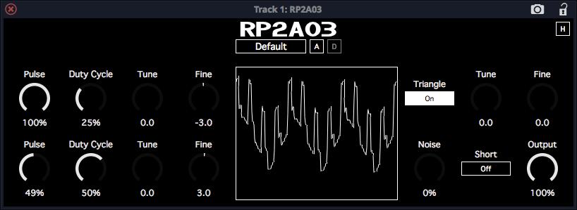 RP2A03 émulation vsti plugin gratuit